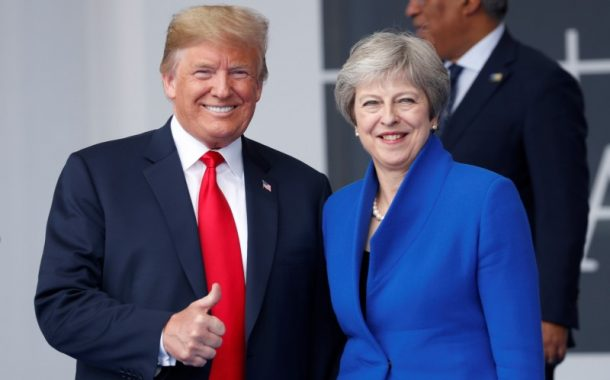 Trump in UK after questioning May's Brexit plan