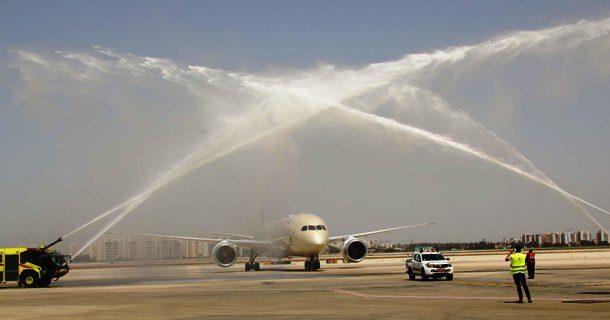 ETIHAD AIRWAYS FIRST SCHEDULED FLIGHT FROM ABU DHABI LANDS IN ISRAEL