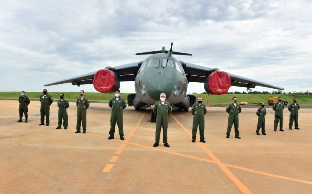 Embraer delivers the fourth C-390 Millennium airlifter to the Brazilian Air Force